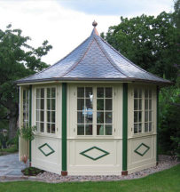 16 Gazebo PAGODE coloured paint