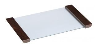 Podnos skleněný - tvrzené sklo  270x460x22
