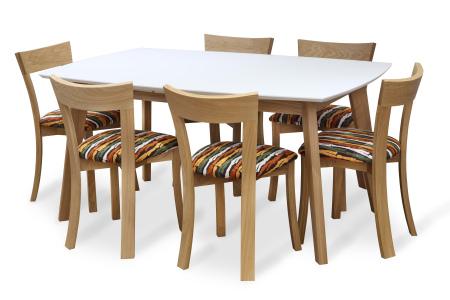 Jídelní rozkládací stůl ONTUR 35 se židlemi ONTUR 60