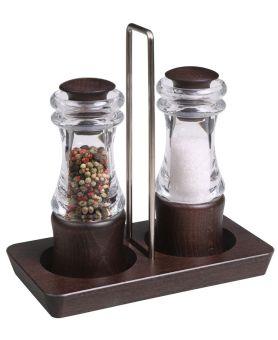 Sada mlýnků KLASIK - odstín tmavý ořech