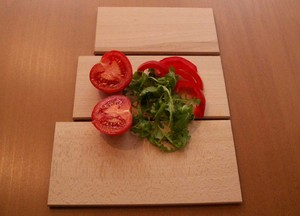 Set of three chopping boards